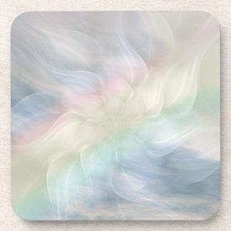 Rainbow Flower Mandala Drink Coaster