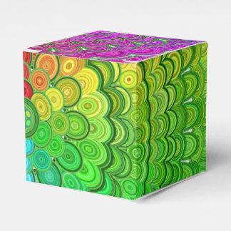 Rainbow Flower Mandala Favour Box