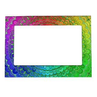 Rainbow Flower Mandala Magnetic Frame
