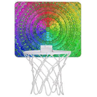 Rainbow Flower Mandala Mini Basketball Hoop