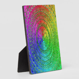 Rainbow Flower Mandala Plaque
