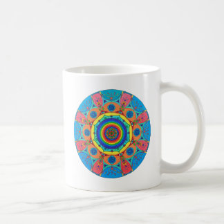 "Rainbow Flower Mandala ""Time Out"" Coffee / Tea Mug"