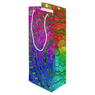 Rainbow Flower Mandala Wine Gift Bag