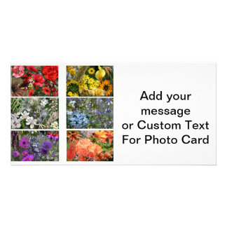 Rainbow Flower Photo Collage Photo Greeting Card