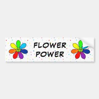 Rainbow Flower Power Bumper Sticker