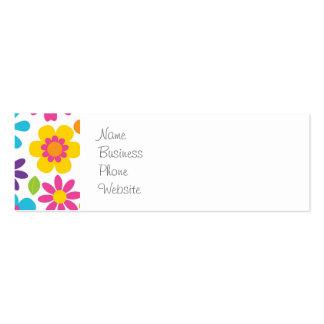 Rainbow Flower Power Hippie Retro Teens Gifts Business Card