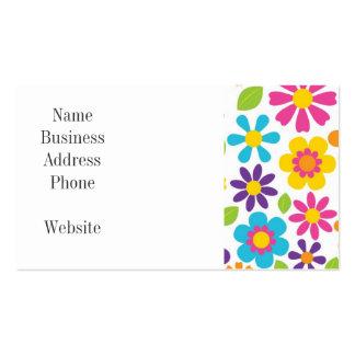 Rainbow Flower Power Hippie Retro Teens Gifts Business Card Template