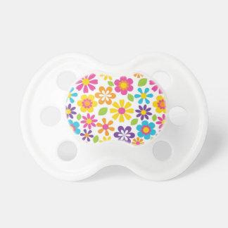 Rainbow Flower Power Hippie Retro Teens Gifts Baby Pacifiers