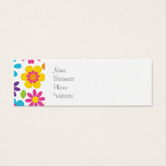 Rainbow Flower Power Hippie Retro Teens Gifts Mini Business Card