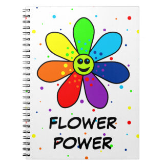 Rainbow Flower Power Notebook