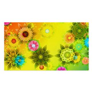 Rainbow Flower Power Pack Of Standard Business Cards