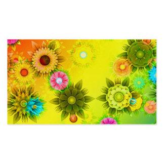 Rainbow Flower Power Pack Of Standard Business Cards