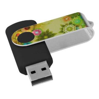 Rainbow Flower Power Swivel USB 2.0 Flash Drive