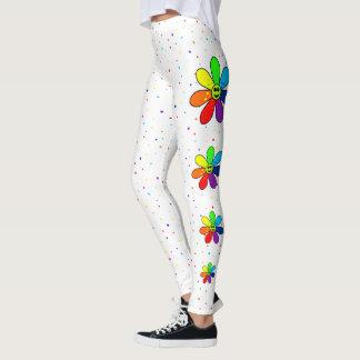 Rainbow Flower Side Leggings