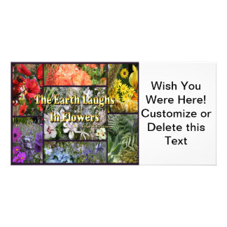 Rainbow Flowers - Earth Laughs by Emerson Photo Greeting Card