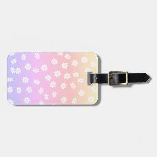 Rainbow Flowers Luggage Tag