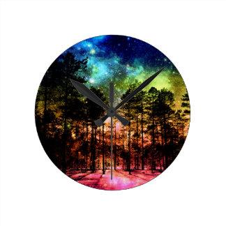 Rainbow Forest Wallclock