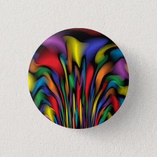 Rainbow Fountain 3 Cm Round Badge