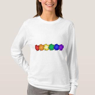 Rainbow Four Leaf Clovers T-Shirt