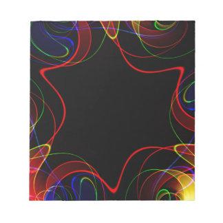 Rainbow fractal #2 notepad