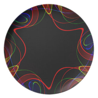 Rainbow fractal #2 party plate
