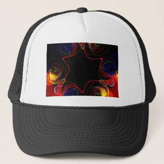 Rainbow fractal #2 trucker hat