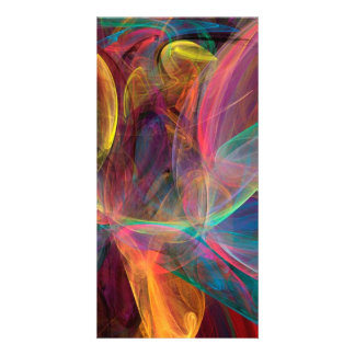 Rainbow Fractal Art Photo Card Template