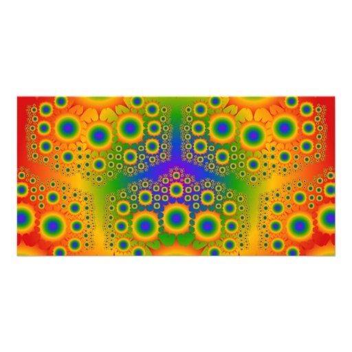 Rainbow Fractal Explosions: Photo Card