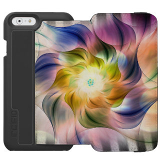 Rainbow Fractal Flower w/Zebra Stripes Incipio Watson™ iPhone 6 Wallet Case