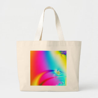 Rainbow fractal jumbo tote bag