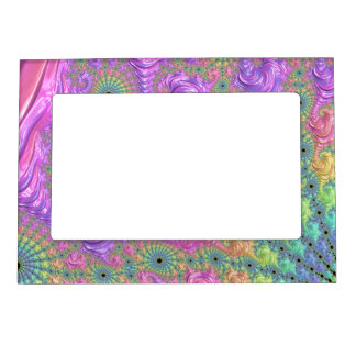 Rainbow Fractal Magnetic Picture Frame