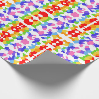 Rainbow Fractal Mosaic Pattern Wrapping Paper