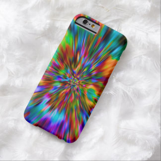 RAINBOW FRACTAL OPTICAL ART. BARELY THERE iPhone 6 CASE