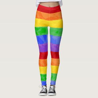 Rainbow Fractal Pattern Print Leggings