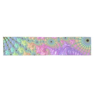 Rainbow Fractal Short Table Runner