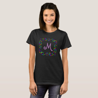 Rainbow framed monogram T-Shirt