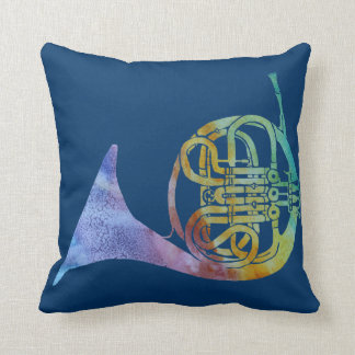 Rainbow French Horn Cushion