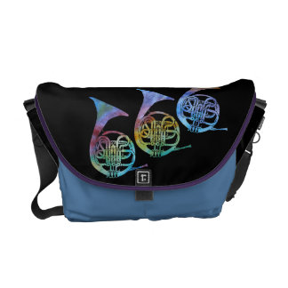 Rainbow French Horns Courier Bags