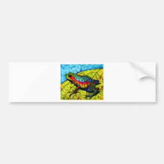 Rainbow Frog Bumper Sticker