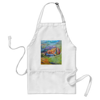 Rainbow Frog Fine Art Colorful in Water Standard Apron