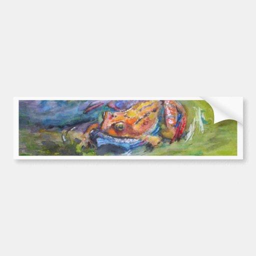 Rainbow Frog Fine Art Colorful in Water Bumper Sticker