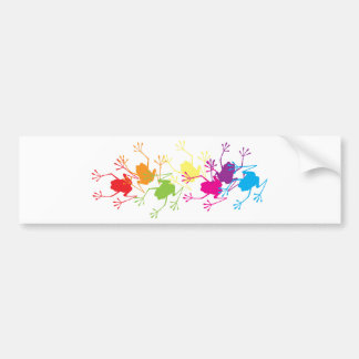 Rainbow Frogs Bumper Sticker