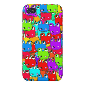 Rainbow frogs cover for iPhone 4
