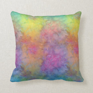 [Rainbow Frost] Multi-Coloured Tie-Dye Throw Pillow
