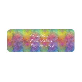 """Rainbow Frost"" Return Address Size Return Address Label"