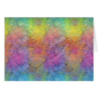 [Rainbow Frost] Tie-Dye Butterfly - Any Occasion Card
