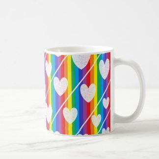 Rainbow Full of Hearts Mug