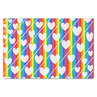 Rainbow Full of Hearts Tissue Paper