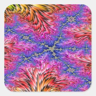 Rainbow Fusion Fractal 2 Square Sticker