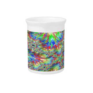 Rainbow Fusion Fractal Pitcher